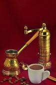 土耳其和希腊咖啡传统集 — 图库照片