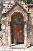 Entrance of the Church of Panaghia Kapnikarea — 图库照片