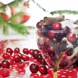 Stock Photo: Cranberries and sugar