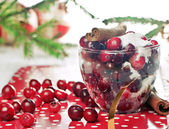 Cranberries and sugar — Stock Photo