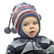 Caucasian baby boy in a cap — Stock Photo