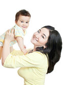 Asian mother and baby-boy — Stock Photo