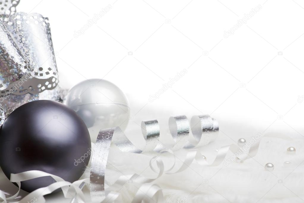 Group of christmas decoration isolated on white — Stock Photo #12861911