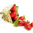 Stock Photo: Scatter strawberry