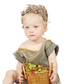 Girl in a greek fancy dress — Stock Photo