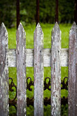 Wooden fence — Stock Photo