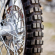 Motorcycle wheel — Stock Photo