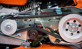 Detail of a motorcycle — Stock Photo