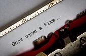 Testo typewriter — Foto Stock