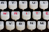 клавиатура пишущей машинки — Стоковое фото