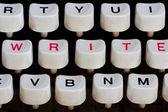 Skrivmaskin tangentbord — Stockfoto