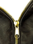 Golden zipper — Stock Photo