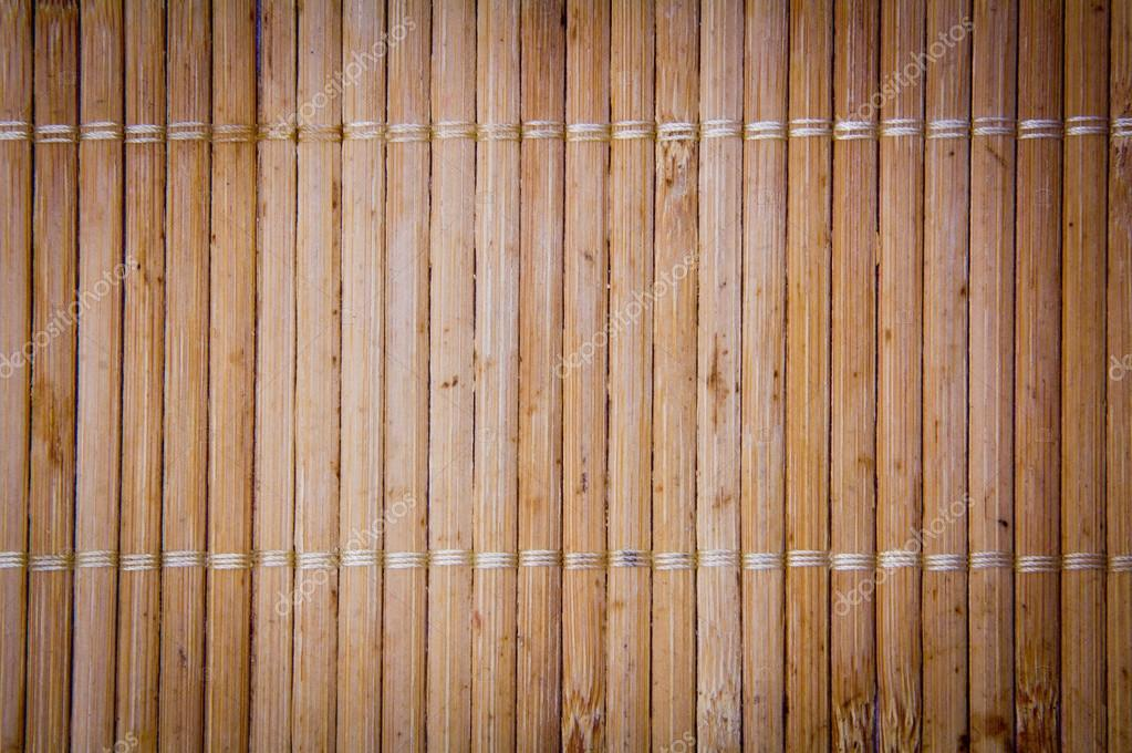 Bamboo texture with gray ropes — Stock Photo #20248705