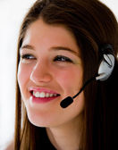 Call center operator business — Stock Photo