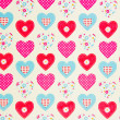 Hearts texture — Stock Photo #22014533