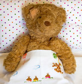 Ill teddy bear — Stock Photo