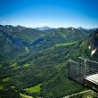 Balcony viewpoint mountain — Stock Photo