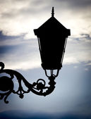Silhouette lamppost — Stock Photo