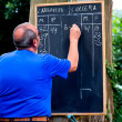 Score chalkboard — Stock Photo