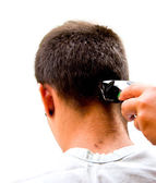 Man cutting hair — Stock Photo