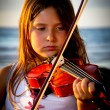 Little girl playing violin — Stock Photo