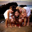 Three little girls — Stock Photo