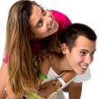 Stock Photo: Teen couple