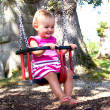 Baby on swing — Stock Photo