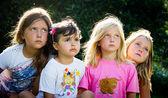 Four little girls — Stock Photo
