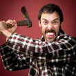 Crazy lumberjack — Stock Photo