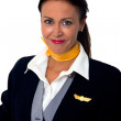 Stewardess — Stock Photo