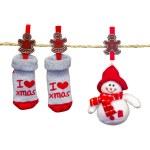 Christmas clothesline — Stock Photo #33726595