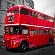 Stock Photo: London red bus