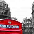 Red phone booth — Stock Photo #34504797
