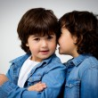 Boy and girl portrait — Stock Photo
