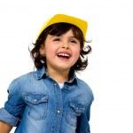 Construction worker little girl — Stock Photo #36027739