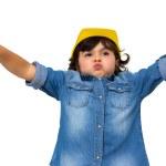 Construction worker little girl — Stock Photo #36027743