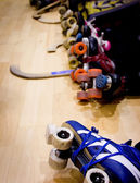 Roller hockey detail — Stock Photo