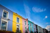 Portobello road houses — Stock Photo