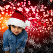 Child christmas card — Stock Photo #38121475