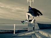 Teen skateboarder — Stock Photo