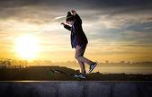 Skateboarder teenager — Foto Stock