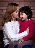 母亲和小孩儿的 — 图库照片