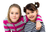Two happy little girls — Stock Photo
