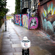 Stock Photo: London graffiti cityscape