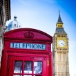 Red telephone booth — Stock Photo #39377821