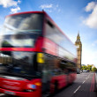 Stock Photo: London bus and big ben