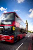 London bus and big ben — Stock Photo