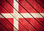 Wooden flag — Stock Photo