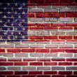 Brick wall flag — Stock Photo